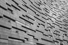 Modern building texture in grey colors Royalty Free Stock Photos