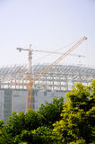 Modern building under construction Royalty Free Stock Image