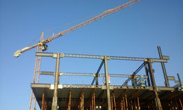 Modern building under construction Royalty Free Stock Images