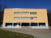 Modern building of a university stock image
