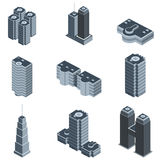 Modern building vector. In grayscale