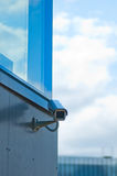 The modern building video surveillance Royalty Free Stock Photo