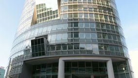 Modern building in Vienna stock footage