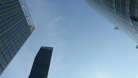 Modern building in Vienna stock video footage