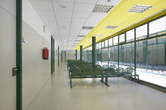 Modern building waiting area with seats Royalty Free Stock Images