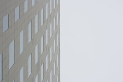 Modern building wall facing sky Royalty Free Stock Photo