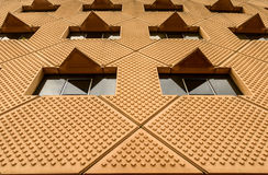 Modern building wall pattern Stock Images