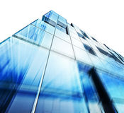 Modern building white isolated Royalty Free Stock Photo