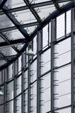 Modern building and window frame. And transparent view Stock Image