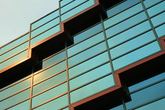 Modern Building Windows. Close up of the modern building windows Royalty Free Stock Photo
