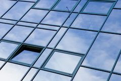 Modern building with windows Stock Images
