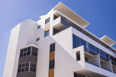 Modern Building With Blue Sky Showed The Upper Part Royalty Free Stock Photography