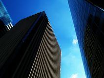 Modern buildings. Office buildings over blue sky Stock Photography