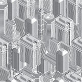 Modern buildings royalty free illustration
