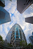 Modern buildings. Skyscrapers in the center of Tokyo Royalty Free Stock Image