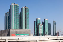 Modern buildings in Abu Dhabi Stock Photo