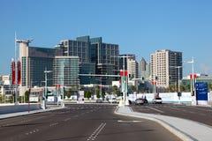 Modern buildings in Abu Dhabi Royalty Free Stock Images