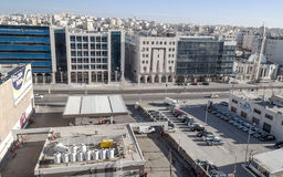 Modern buildings of Amman stock images
