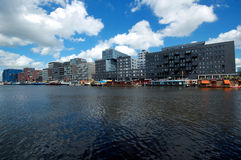 Modern buildings in Amsterdam Royalty Free Stock Images