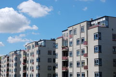 Modern buildings architecture. Some modern buildings in a row Stock Photo
