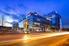 Modern buildings architecture of Olivia Business Centre in Gdansk Stock Images
