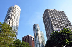 Modern Buildings. Modern architecture at Tanjong Pagar financial district in Singapore Royalty Free Stock Photo