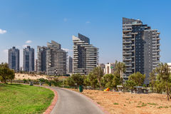 Modern buildings in Ashdod, Israel. View on modern residential complex of buildings under blue sky in Ashdod, Israel Stock Photo