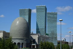 Modern buildings in Astana / Kazakhstan Stock Photo