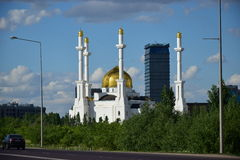 Modern buildings in Astana / Kazakhstan Stock Images