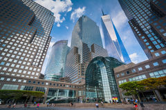 Modern buildings in Battery Park City, Manhattan, New York. Royalty Free Stock Images