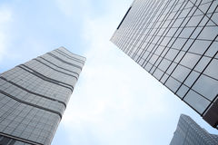 Modern buildings in Beijing. Business and financial center royalty free stock image