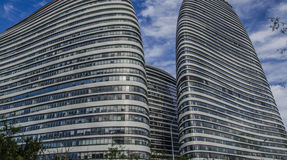 Modern buildings, Beijing. There are more and more modern office buildings in Beijing royalty free stock photo