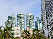 Modern buildings. With blue sky Stock Image