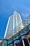 Modern buildings. With blue sky background in financial center of shanghai Stock Photography