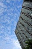 Modern Buildings and Blue Sky with Clouds Background Royalty Free Stock Photography