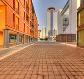 Modern buildings in Brescia with pedestrian passage Stock Images
