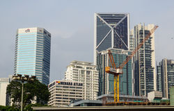 Modern buildings at the business district in Kuala Lumpur, Malaysia Stock Photos