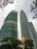 Modern buildings at business district in Kuala Lumpur, Malaysia.  Royalty Free Stock Image