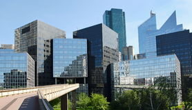 Modern buildings in the business district of La Defense Royalty Free Stock Photos