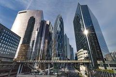 Modern buildings. In the Business district, La Defense, West Paris, France Stock Photos