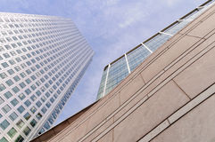 Modern buildings in Canary Wharf Stock Photo