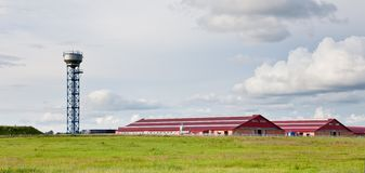 Modern buildings cattle farm Stock Photo