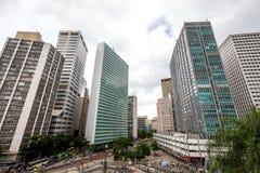 The modern buildings in the centre business area of Rio de Janeiro ,near Sata Teresa Stock Images