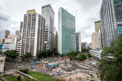 The modern buildings in the centre business area of Rio de Janeiro ,near Sata Teresa Stock Image