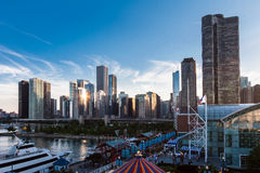Modern Buildings Chicago Royalty Free Stock Photo