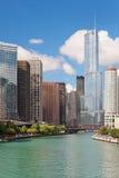 Modern buildings in the Chicago Loop. Stock Image