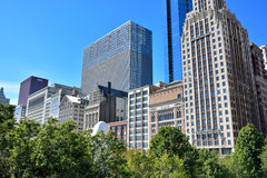 Modern buildings beside Chicago Millennium Park. City modern buildings beside Millennium Park, Chicago, Illinois, United States Royalty Free Stock Image