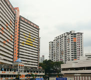 Modern buildings in Chinatown of Singapore Stock Images