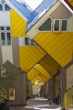 Modern Buildings City Architecture Design Elements Known as Cubic Houses Designed by Piet Blom in Rotterdam Stock Images