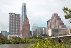 Modern buildings in city Austin. Nice modern city Austin , TX USA Stock Photo